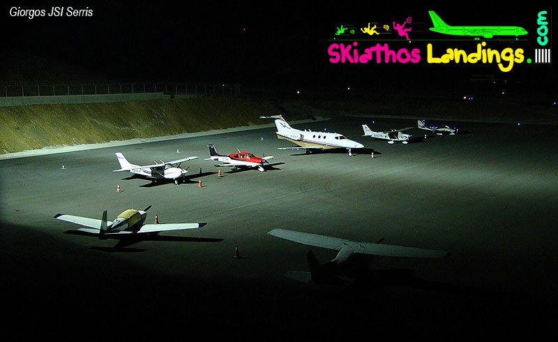 Increase of private aircraft at Skiathos