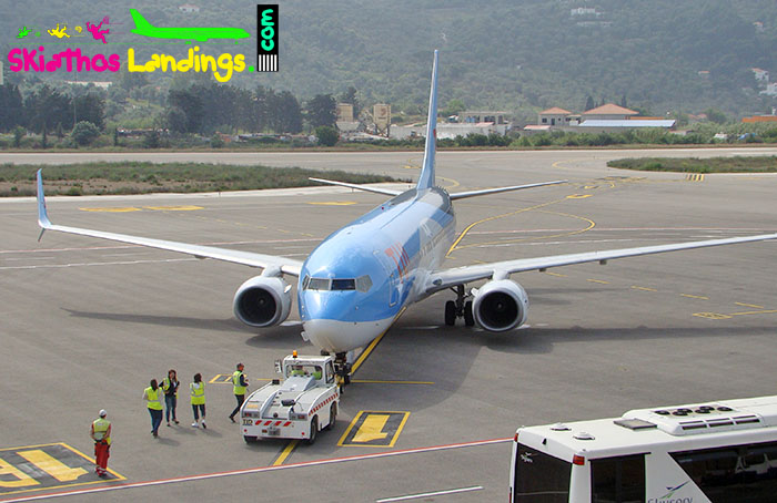 Push back procedures started at Skiathos