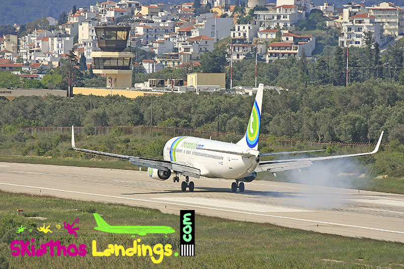 28 April 2008: First charter flight for summer season in Skiathos
