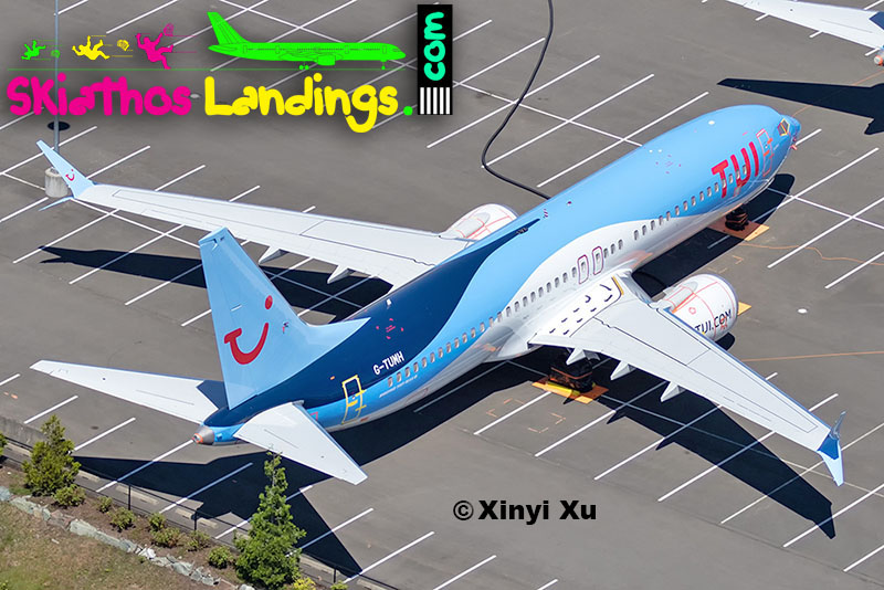 "TUI Air named a Boeing 737 MAX 8, ""Skiathos"""