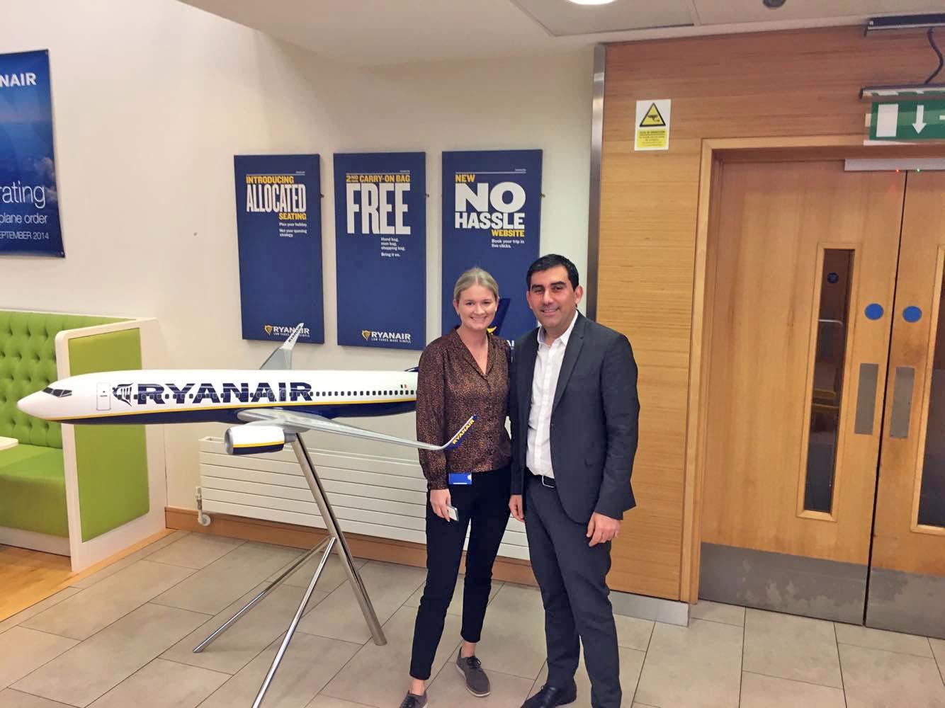 Συνάντηση του Δήμαρχου Σκιάθου στα κεντρικά της Ryanair στο Δουβλίνο