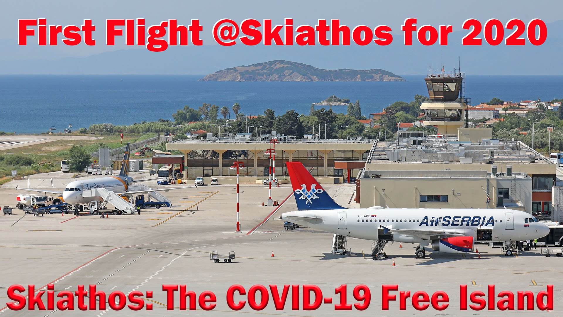 First Charter Flight at Skiathos airport for 2020