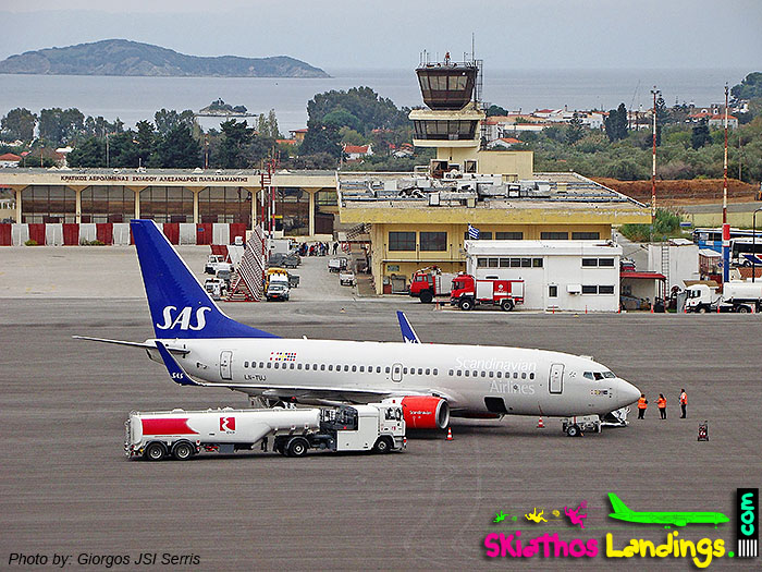 Last charter flight at Skiathos for summer 2016
