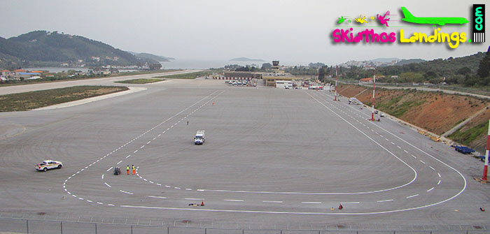 New Parking Stands (markings) at Skiathos Airport