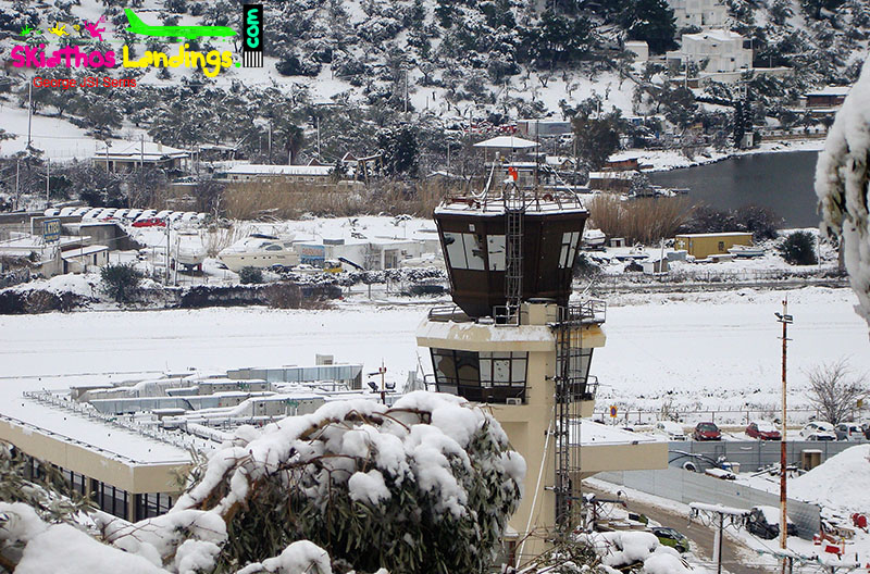 Snow at Skiathos once more
