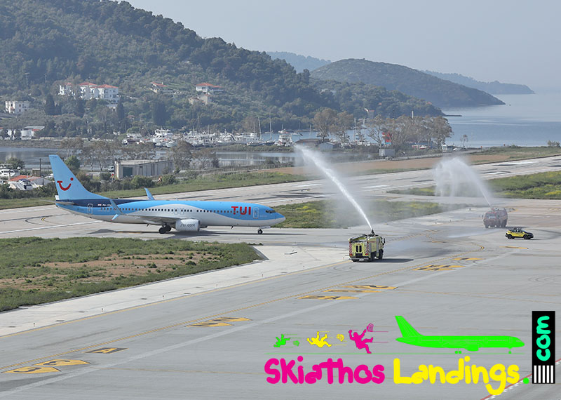 26 April: First charter flight at Skiathos for summer 2019