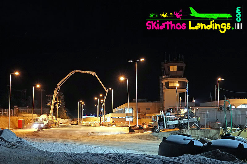 Overnight construction works for the terminal renewal