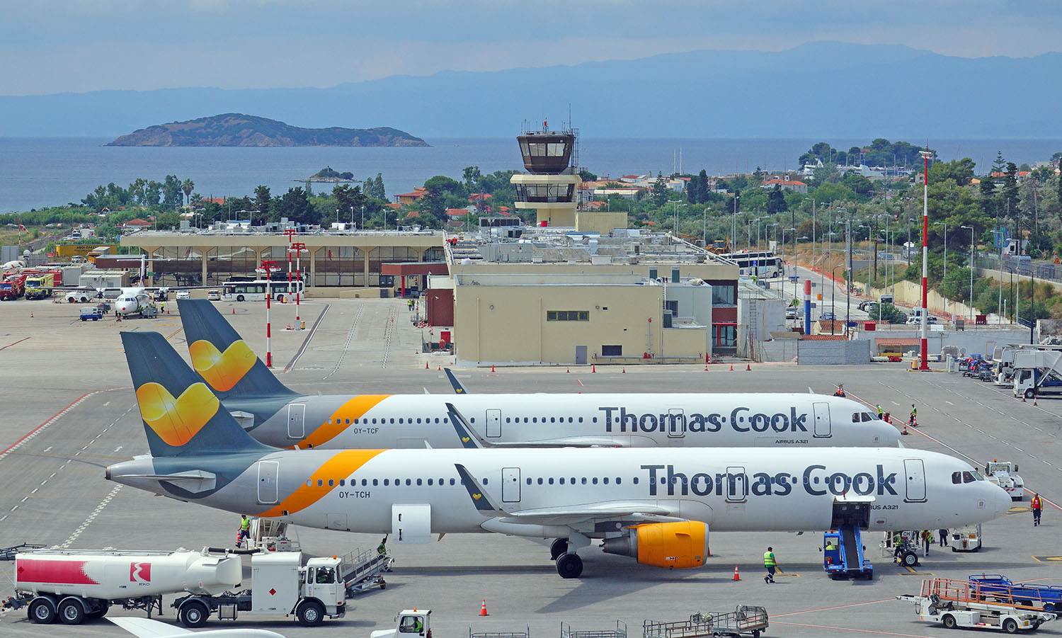 Thomas Cook Rescue Flights at Skiathos