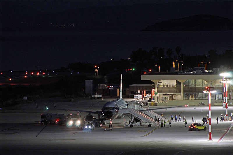 First charter flight for 2021 at Skiathos